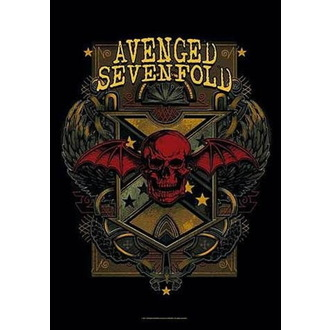 Zastava Avenged Sevenfold - Death Crest, HEART ROCK, Avenged Sevenfold