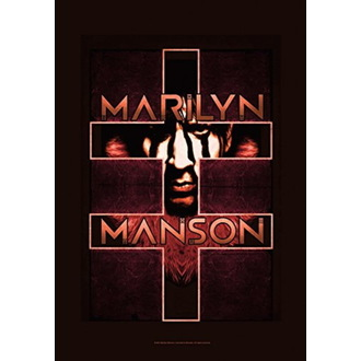 Zastava Marilyn Manson - Double Cross, HEART ROCK, Marilyn Manson