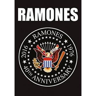 Zastava Ramones - 40th Anniversary Logo, HEART ROCK, Ramones