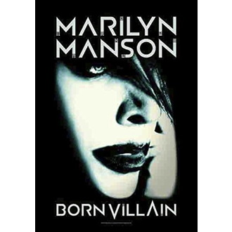 Zastava Marilyn Manson - Born Villain, HEART ROCK, Marilyn Manson