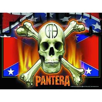 zastava Pantera - Flag & Skull, HEART ROCK, Pantera