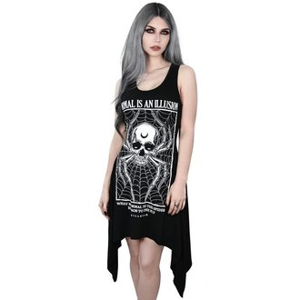 Ženska haljina KILLSTAR - ILLUSION LACED UP - BLACK, KILLSTAR