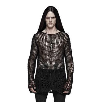 Muški džemper PUNK RAVE - Black Ruin - OPM-004 BK