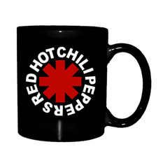 Šalica Red Hot Chili Peppers - Astrisk Logo - Black, Red Hot Chili Peppers