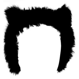 Naušnjaci KILLSTAR - Le Chat Noir Ear Muffs - Black, KILLSTAR