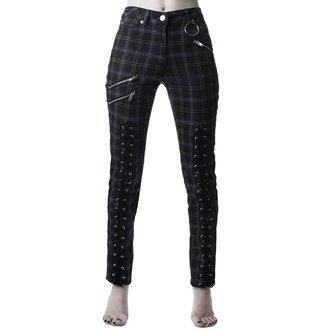 Ženske hlače KILLSTAR - Mazzy Lace-Up - TARTAN, KILLSTAR