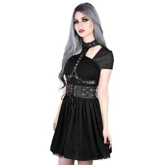 Ženska haljina KILLSTAR - MIDNIGHT MUSE HARNESS - BLACK, KILLSTAR