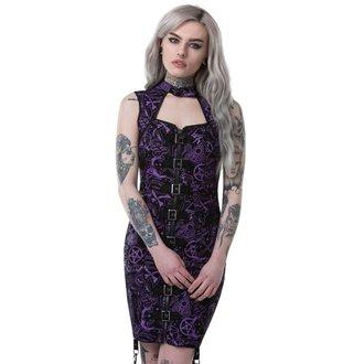 Ženska haljina KILLSTAR - MISS MORBID BUCKLE UP - CRNA, KILLSTAR