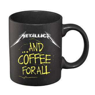 Keramička šalica Metallica - And Coffee For All Mat - Crna, Metallica