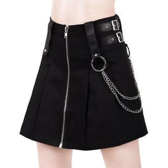 Ženska suknja KILLSTAR - Nancy - BLACK, KILLSTAR