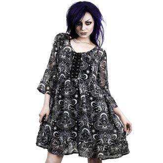 Ženska haljina KILLSTAR - NEW MOON BABYDOLL - CRNA, KILLSTAR