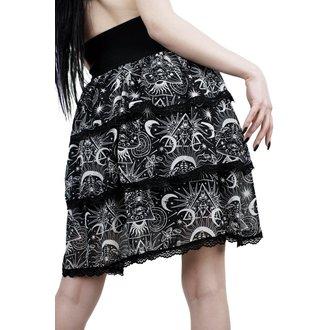 Ženska suknja KILLSTAR - NEW MOON - BLACK, KILLSTAR