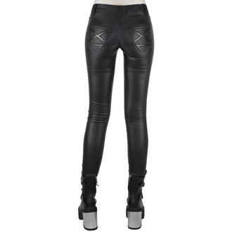 Ženske hlače KILLSTAR - Nocturnal Coated Jeans - BLACK - KSRA001523