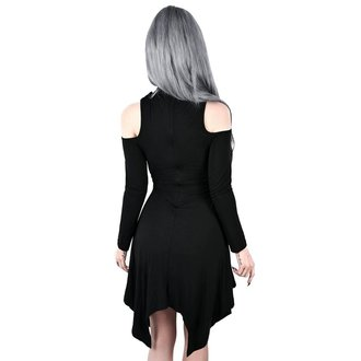 Ženska haljina KILLSTAR - Onyx Fall-Deep - BLACK, KILLSTAR