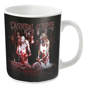 Šalica CANNIBAL CORPSE - BUTCHERED - White - PLASTIC HEAD, PLASTIC HEAD, Cannibal Corpse