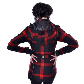 Ženski kaput POIZEN INDUSTRIES - TILLY - CRNI / CRVENI, POIZEN INDUSTRIES