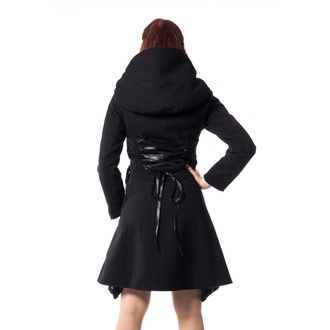 Ženski kaput POIZEN INDUSTRIES - TEARS - CRNI, POIZEN INDUSTRIES