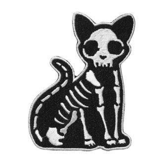 Zakrpa za glačanje KILLSTAR - Purr Bones - BLACK, KILLSTAR