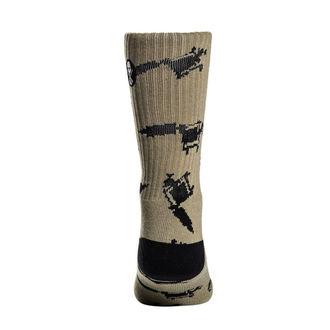 Visoke čarape SULLEN - MACHINED - MASLINASTA / SIVA, SULLEN