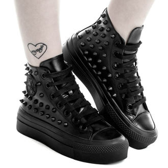 Jednospolne wedge cipele - SOULED OUT HIGH TOPS - KILLSTAR, KILLSTAR