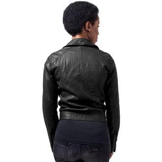 Ženska proljeće/jesen jakna - Leather Imitation Biker - URBAN CLASSICS - TB1353-black