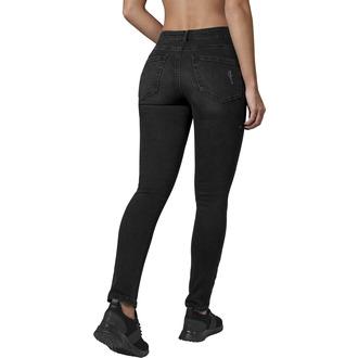 Ženske hlače URBAN CLASSICS - Visoki struk - isprana crna, URBAN CLASSICS