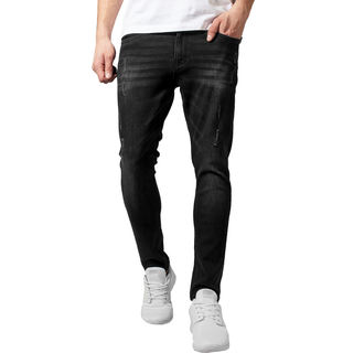 Muške hlače URBAN CLASSICS - Skinny Ripped Stretch Denim, URBAN CLASSICS