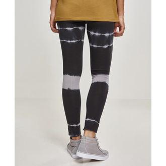 Ženske hlače (tajice) URBAN CLASSICS - Tie Dye Biker - blk / lt.grey, URBAN CLASSICS
