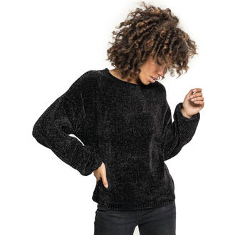 Ženski džemper URBAN CLASSICS - Chenille - crno, URBAN CLASSICS