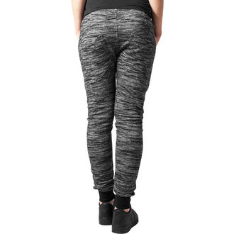 Ženske hlače (trenirka) URBAN CLASSICS - Fitted Melange - crna / siva, URBAN CLASSICS