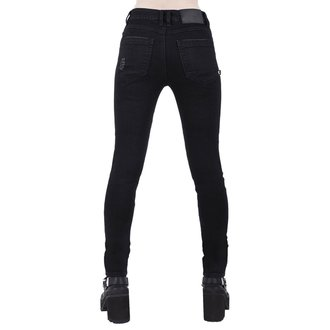 Ženske hlače KILLSTAR - Trash Talk Jeans - CRNE, KILLSTAR