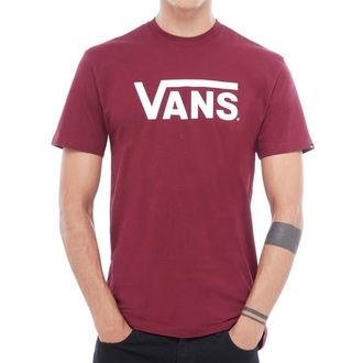 Muška majica VANS - MN VANS CLASSIC - Burgundna / Bijela, VANS