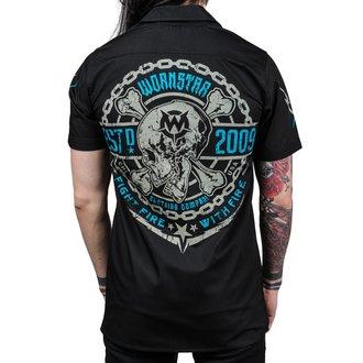 Muška košulja WORNSTAR - MASTER Fight Fire - Crna, WORNSTAR