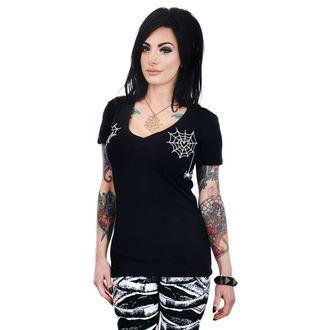 Ženska majica gotika i punk - HEART SPIDER WEBS - TOO FAST, TOO FAST