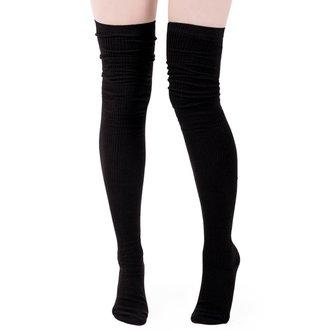 Čarape preko koljena KILLSTAR - Zoey - BLACK, KILLSTAR