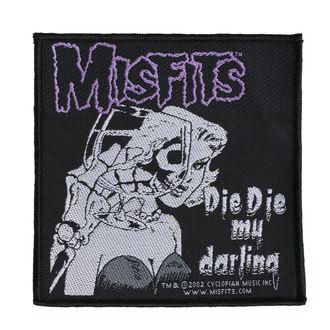 Zakrpa MISFITS - DIE DIE MY DARLING - RAZAMATAZ, RAZAMATAZ, Misfits