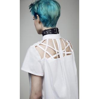 Ženska košulja DISTURBIA - Abstract Crop - Bijela, DISTURBIA