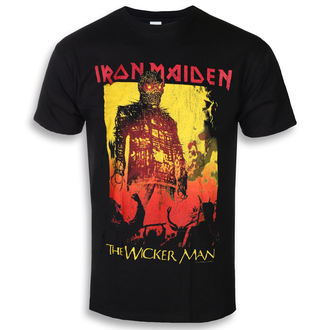 Muška metal majica Iron Maiden - The Wicker Man Fire - ROCK OFF, ROCK OFF, Iron Maiden