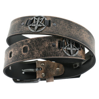 Remen Pentagram Cross - smeđi, JM LEATHER