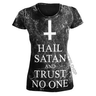 Majica hardcore ženska - HAIL SATAN AND TRUST NO ONE - AMENOMEN, AMENOMEN
