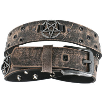Remen Pentagram - smeđi, JM LEATHER
