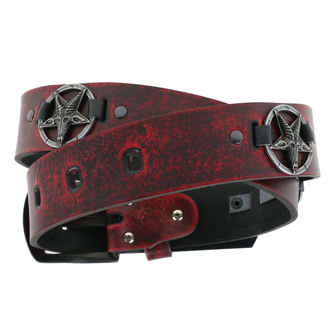 Remen BAFOMETU - red, JM LEATHER