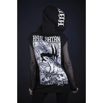 Majica s kapuljačom unisex - hail satan - BELIAL - BEL029