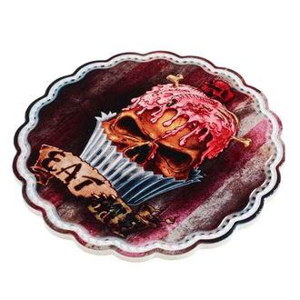 Zidni ukras / poloča za serviranje / podmetač ALCHEMY GOTHIC - Skull Cupcake, ALCHEMY GOTHIC