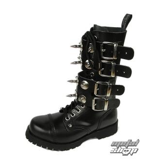 Čizme BOOTS & BRACES - Scare 4-buckles - crna, BOOTS & BRACES
