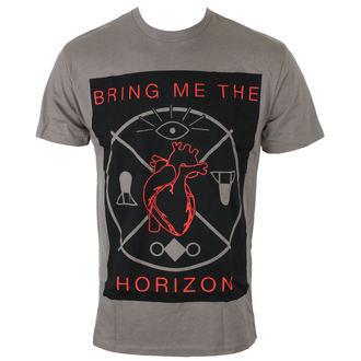 Majica muška Bring Me The Horizon - HEARTS & SYMBOLS - GRY - BRAVADO, BRAVADO, Bring Me The Horizon
