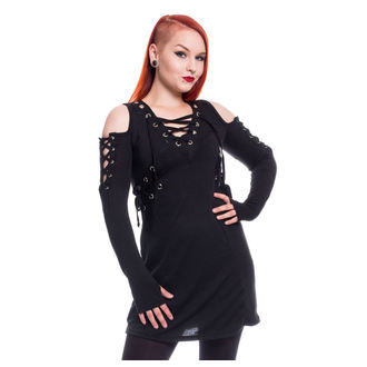 Ženska haljina Poizen Industries - CRAVE - CRNA, POIZEN INDUSTRIES