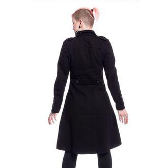 Ženski kaput POIZEN INDUSTRIES - DARK ROMANCE - BLACK, POIZEN INDUSTRIES