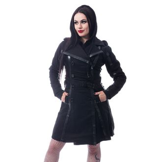 Ženski kaput CHEMICAL BLACK - DARK SILENCE - BLACK, CHEMICAL BLACK
