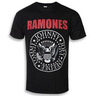 Muška metal majica Ramones - RED TEXT SEAL LOGO - PLASTIC HEAD, PLASTIC HEAD, Ramones